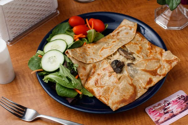 Creamy Chicken Crepes Meal
