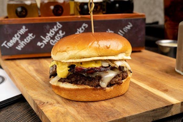 Alpine Swiss & Mushroom Burger