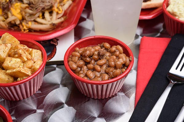 Side of Baked Beans with Ground Beef