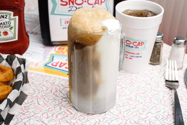 Snocap Root Beer Float