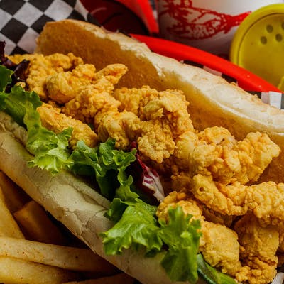 Fried Alligator Poboy