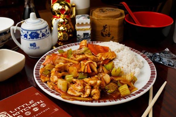 C5. Hot Spicy Chicken & White Rice