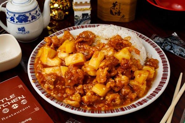 C10. Pinapple Chicken & White Rice
