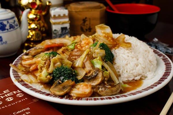 S1. Shrimp with Garlic Sauce & White Rice