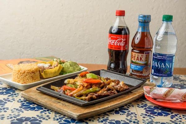 Fajita Chicken & Steak Coca-Cola Dinner Combo