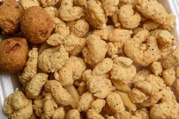 Fried Popcorn Shrimp Basket