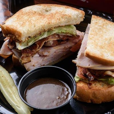 Cold Turkey, Bacon & Avocado Sandwich