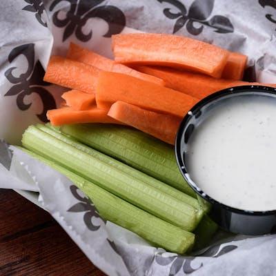 Freshly-Cut Celery & Carrot Sticks