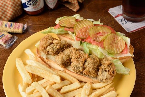 Lunch Oyster Po-Boy