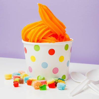 Valencia Orange Sorbet Frozen Yogurt
