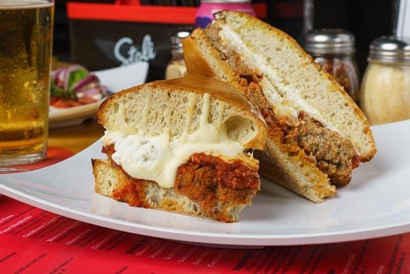 Meatball Panino Sandwich