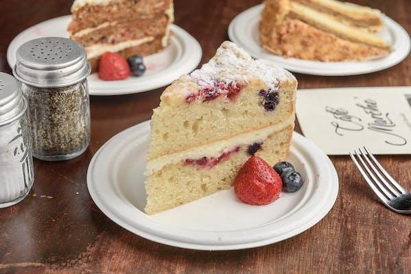 Lemon Berry Marscarpone Cheesecake
