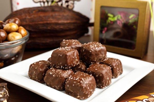 (½ lb.) Sugar-Free Milk Chocolate Sea Salt Caramels