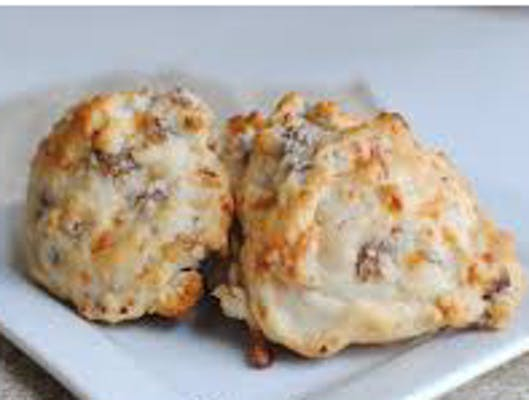 Conecuh Sausage and Smoked Cheddar Biscuit