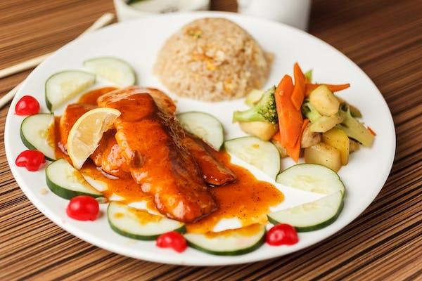 H3. Dinner Hibachi Salmon