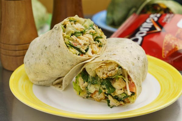 Buffalo Chicken Caesar Wrap