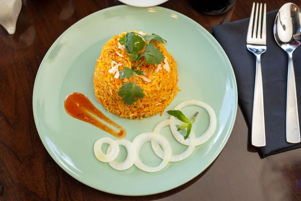Egg Biryani with Raita