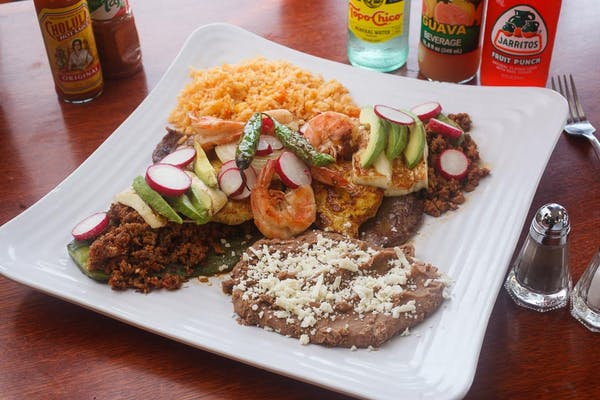 Steak, Chorizo, Shrimp & Cactus