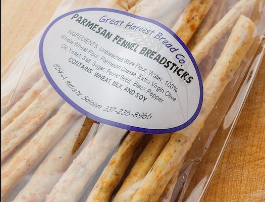 Parmesan Fennel Breadsticks