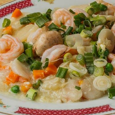 D18. Shrimp with Lobster Sauce (Dinner)