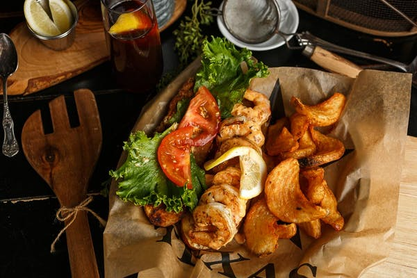 Po-Boy Sandwich & Fries