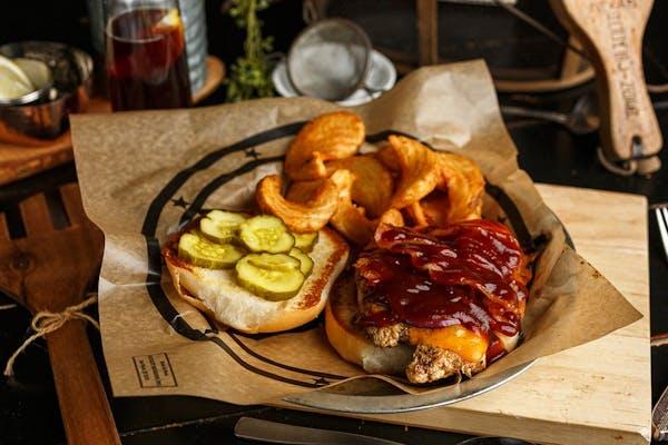 BBQ  Chicken  Sandwich & Fries