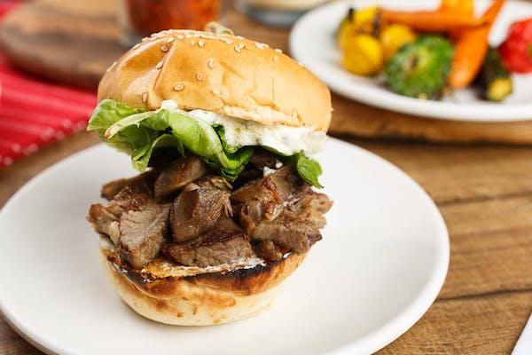 Lamb Shoulder Sandwich