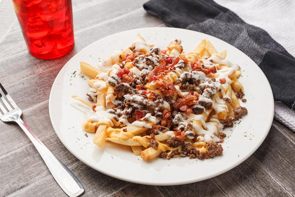 Cheesy Bacon Ranch Burger Fries