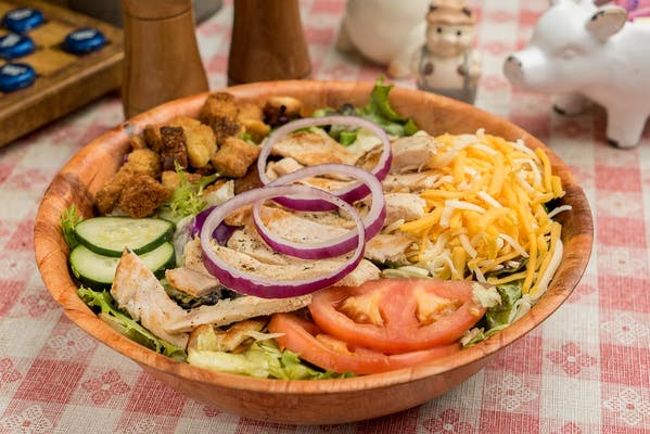 Grilled Chicken Breast Barbecue Salad