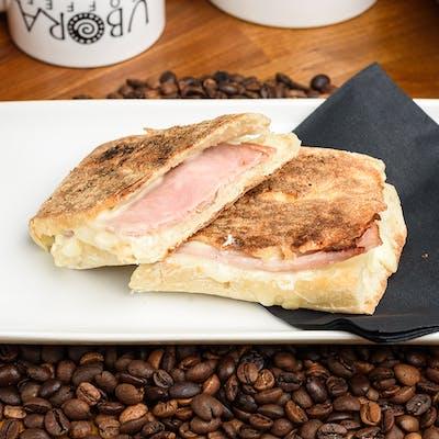 Regular Latte + Panini (ham & cheese)