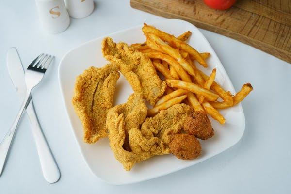 Fried Fish & Hushpuppies
