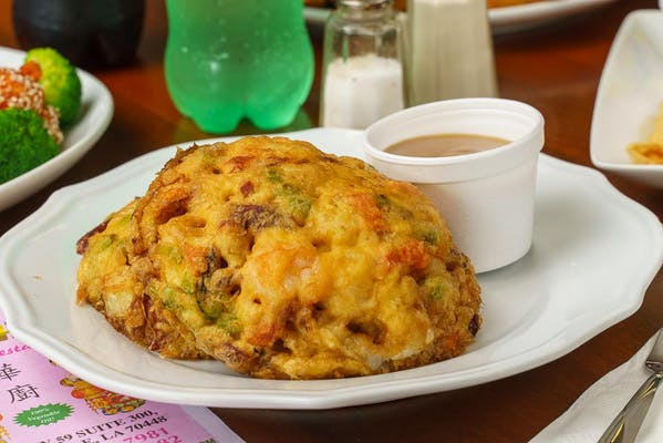 38. Chicken or Roast Pork Egg Foo Young