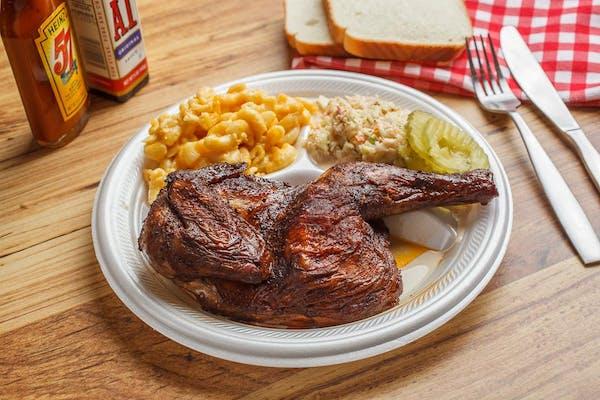 Half BBQ Chicken Plate