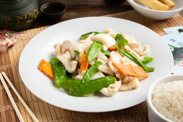 96. Steamed Chicken with Mixed Vegetables
