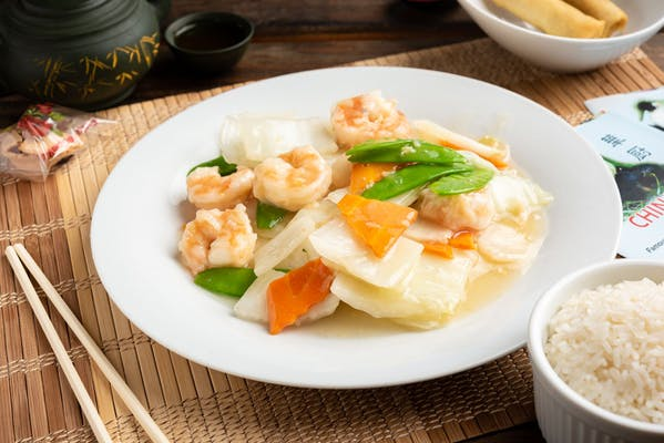 L5. Shrimp or Beef with Chinese Vegetables Lunch Special