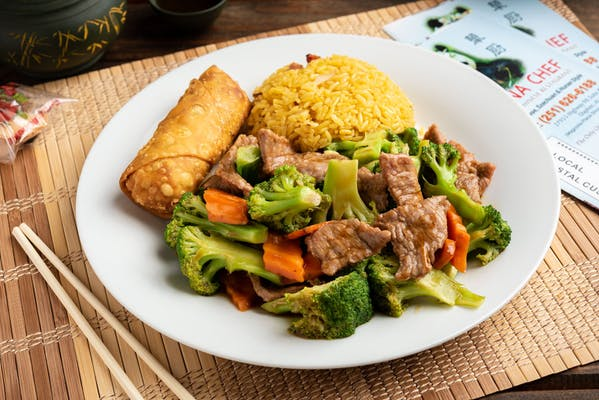 Meat with Broccoli Lunch Special