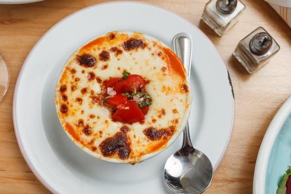 Tomato Soup au Gratin