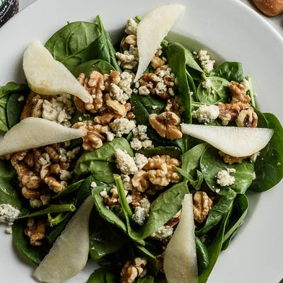 Pear & Balsamic Spinach Salad