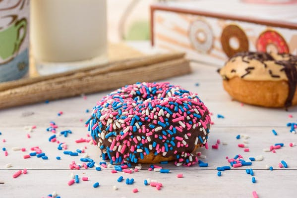 Colored Sprinkled with Chocolate Donut