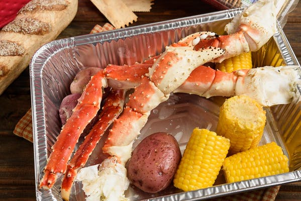 Steamed King Crab