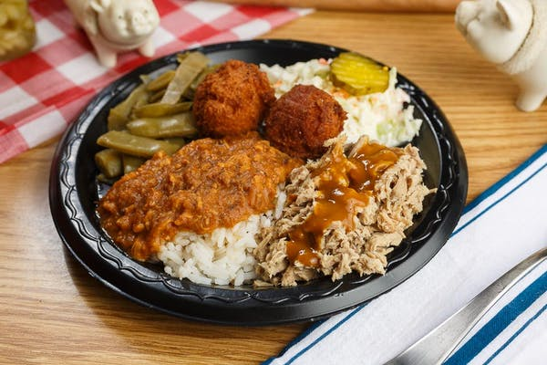 Bar-B-Q Plate with Hash & Rice