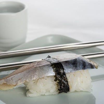 Mackerel Nigiri (Saba)