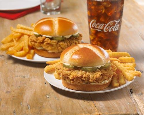 2 Smoky Honey-Q Chicken XL Sandwich Combo