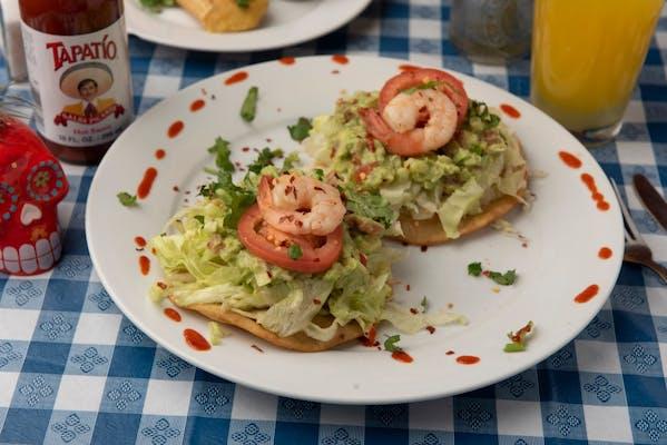 Guacamole & Gulf Shrimp Tostadas