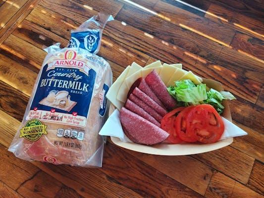 Freshly sliced meat & Cheese