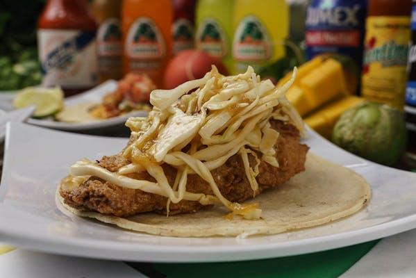 Creole Buttermilk Catfish Taco