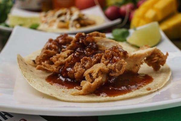 BBQ Fried Chicken Taco