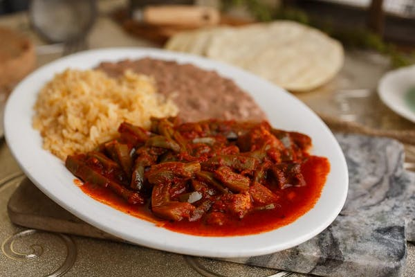 9. Pork with Cactus in Sauce