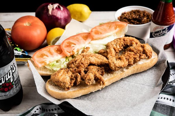 Fried Chicken Strip Po'Boy