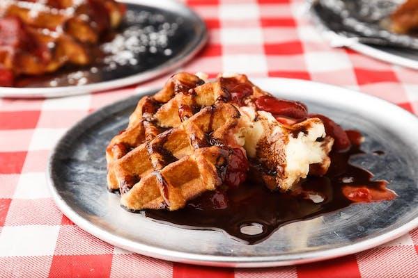 Cheesecake Waffle Sandwich